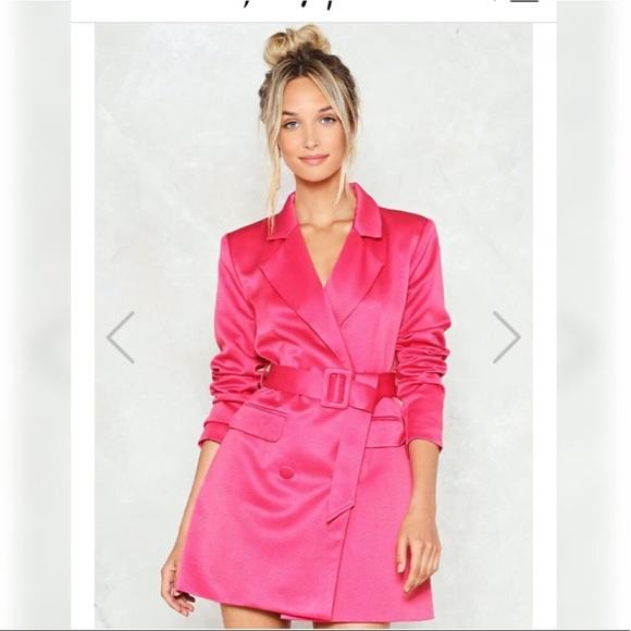 dcb5a3c64424 Nasty Gal Jackets & Coats | Hot Pink Blazer Dress | Poshmark